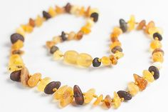 Raw Baltic amber baby teething necklace. by LuxuryBalticAmber, $9.81
