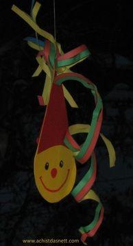 Karneval / Fasching Tolle Deko für deine Faschingsparty basteln! www.achistdasnett.com