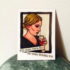 Magnet: Vill man vara fin får man dricka vin