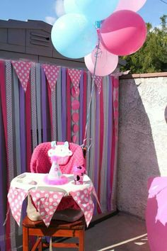 First Birthday Party Decorations tutu cupcake cotton candy theme