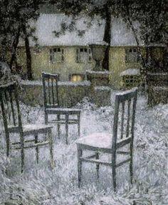 "Henri Le Sidaner ""Snow"" 1924"