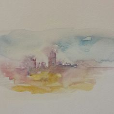 Skyline Watercolour by Sarah Hogg