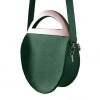 torby na ramię - damskie Round Glamour Bottle Green