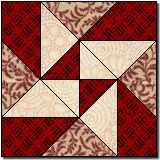 star of destiny free quilt block pattern -- uses paper piecing