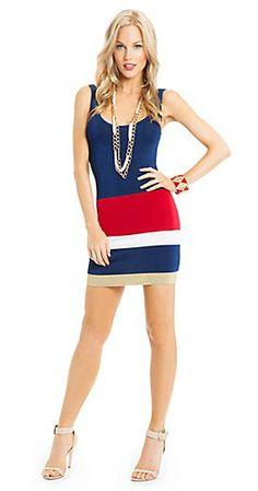 Cute dress...  http://guessbymarciano.guess.ca/en/Catalog/View/Women/Dresses/Nautical%20Tank%20Dress/P24R0800000