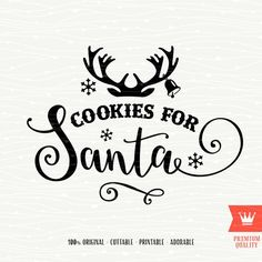 Milk For Santa Merry Christmas SVG Cutting File Santa Claus Christmas Reindeer Antlers for Cricut Explore, Silhouette Cameo, Cutting Machine Christmas Templates, Christmas Svg, Outdoor Christmas, Christmas Printables, Christmas Stencils, Christmas Labels, Christmas Patterns, Christmas Greetings, Christmas Time