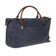 Blue & Tan Overnight Bag by Lily & Moor