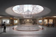 Image 8 of 8 from gallery of Plans to Modernize and Expand the Australian War Memorial Revealed. Courtesy of Scott Carver Memorial Architecture, Public Architecture, Futuristic Architecture, Architecture Design, Entrance Design, Hall Design, Exhibition Plan, Interior Design Awards, Brutalist