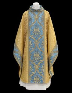 Chagall Design gold and blue chasuble