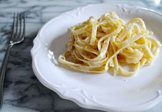 Lemon Parmesan Fettuccine a pasta with a creamy citrusy sauce that can be made in just 15 minutes.
