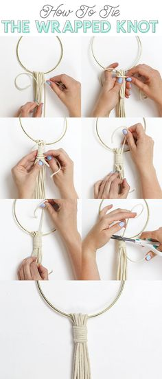 how to tie the macrame wrapped knot