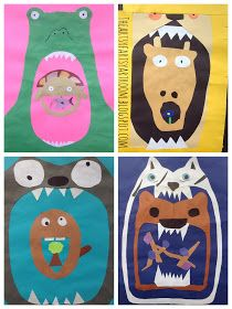 The Artsy Fartsy Art Room: Stylized Food Chains with Grade Primary Science, Third Grade Science, 5th Grade Art, Science Classroom, Grade 2, Food Grade, Food Chain Activities, Science Penguin, Elementary Art Rooms