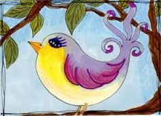 how to draw a whimsical bird - Google Search