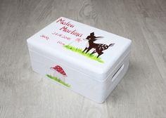 Kisten & Boxen - Spitzbub Erinnerungsbox Erinnerungskiste - Rehkitz - ein Designerstück von Spitzbub bei DaWanda
