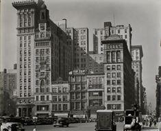 Union Square West, Nos. 31-41, Manhattan. (October 26, 1938) - Changing New York / Berenice Abbott