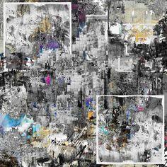 Talk about it / geometric art/ abstract art /contemporary art/ modern art/ urban art / street art / digital collage /