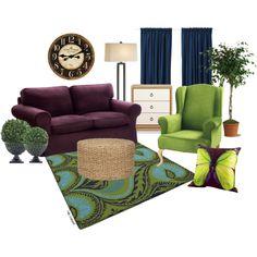 Royal Color Living Room - Polyvore