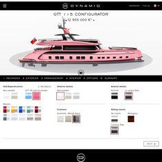 A pink yacht? Dynamiq GTT 115 by Porsche Design.