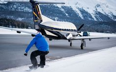 Briton Jamie Barrow reaches 78mph towed behind commercial aircraft in Switzerland