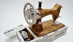 An Artist Who Sews Paper Into 3-D Sculptures Jennifer Collier stitches found bits of paper into cameras and typewriters.