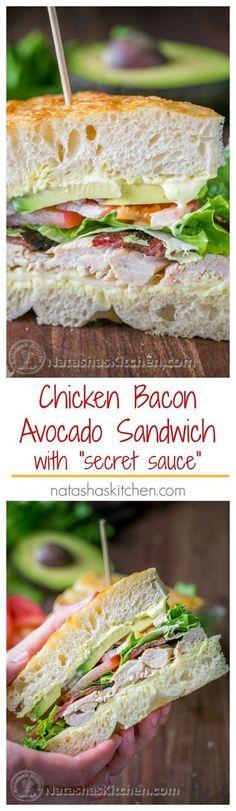 Chicken Bacon Avocado Sandwich