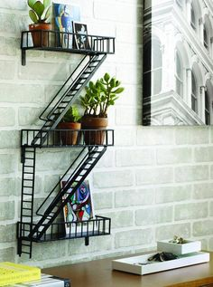 If you miss living in the city you can hang this fire escape shelf to make a classic element of outdoor metropolitan landscape a part of your indoor décor.   #ad #homedecor