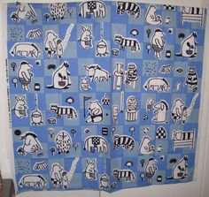 Mouse over image to zoom                                                                                           Have one to sell? 	Sell it yourself       1956 Marimekko Fabric Maija Isola Nalle Suomi Finland Bear Rabbit Donkey 2.3yds