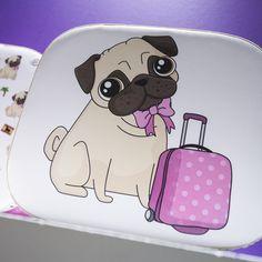 Zaoblený #kufřík pro uložení všech drobností #Mopslík #pug #case