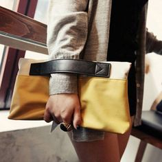 Casual Color Block Design Women's Clutch, YELLOW in Clutch Bags | DressLily.com