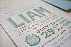 Big News! and Hand-Lettered Baby Announcements…