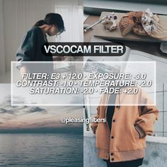 """517 Likes, 3 Comments - vsco filters (@pleasingfilters) on Instagram: """"#pfpresete3 #filtrspaid hey guys! here's a really pretty blue filter that looks super cute for a…"""""""