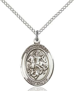 St. George Pendant (Sterling Silver) by Bliss   Catholic Shopping .com