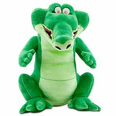 Disney Peter Pan 12 Inch Plush Tick-tock The Crocodile for sale online Peter Pan And Tinkerbell, Peter Pan Disney, Disney Plush, Disney Toys, Neverland Nursery, Peter Pan Nursery, Captain Hook, Disney Merchandise, Disney Villains