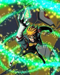 """I borrowed one of Gurren Lagann's drills as a good luck charm! And believe me, I'm gonna put it to good use."" DIE LIKE A MAN GODDAMMIT by dovianax Character Art, Character Design, Character Ideas, Manga Anime, Lagann Gurren, Samurai Flamenco, Gurren Laggan, Terror In Resonance, Generator Rex"