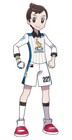 Boy Trainer in Uniform Art - Pokémon Sword and Shield Art Gallery - Pokemon Pokemon Rpg, Black Pokemon, Nintendo Pokemon, Pokemon Fan Art, Pokemon Human Characters, Drawing Cartoon Characters, Cartoon Art Styles, Pokemon Official, Shield Design