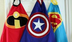 Handmade superhero capes tutorial #DIY