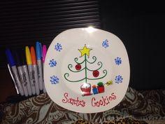 Christmas sharpie plate 450• for 30 min.