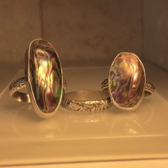 A personal favorite from my Etsy shop https://www.etsy.com/listing/252435970/handmade-abalone-ringunique-handcrafted