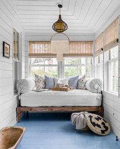 Sunroom Decorating, Sunroom Ideas, Decorating Ideas, Decor Ideas, Small Sunroom, Sleeping Porch, White Shiplap, Up House, Farm House