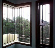 Home Window Grill Design, Balcony Grill Design, Grill Door Design, My Home Design, Window Design, House Design, Window Bars, Bay Window, Window Security Bars