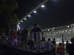 Patrons waiting for on track action