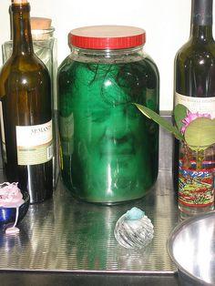 Halloween Head in a Jar