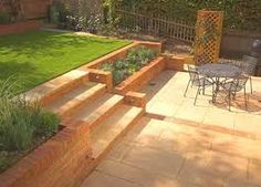 Image result for turning a tiered garden into a flat garden