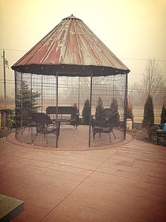 Corn Crib Gazebo at Whistler's Knoll Vineyard