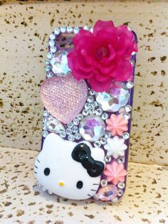 hello kitty phone by iDazzleyou on Etsy, $27.00
