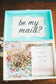 brides of adelaide magazine - bridesmaid invite