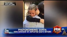 One military dad gave his kids a sweet surprise when they went to see Santa this year.