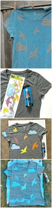 spray paint shirts on pinterest fabric paint shirt. Black Bedroom Furniture Sets. Home Design Ideas