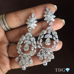 """HANGING FROM THE CHANDELIERS!!!! So beautiful.... Classic Kamyen!!! Love these @kamyenjewellery chandelier earrings!!! """