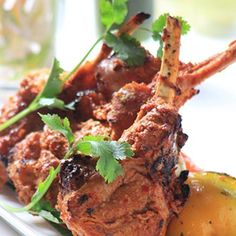 Tandoori Lamb Chops Recipe - Lamb chops marinated in strained yogurt and flavoursome masalas. Cooked till tender, this dish is a complete delight.